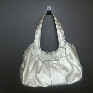 Coach Bags - *Firm Price* Coach Leather <Kiss-Lock Handbag